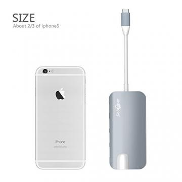 USB C Hub (8-in-1)Dootoper Type C Hub mit 3 USB 3.0 Ports, 4K HDMI Port, Ethernet-Port(1000Mbit/s), SD-Kartenleser, Micro SDHC und USB C Ladeanschluss, für Geräte mit USB Typ C wie MacBook Air, MacBook Pro, Mac Mini, Google Chromebook 2016(Space Gray) - 7