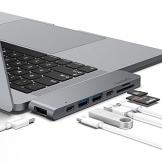 """USB C Hub,doedoeflu USB Typ C Adapter mit 40Gbs Thunderbolt 3, Typ C Ladeanschluss, 1 HDMI Port, 2 USB 3.0 Port , SD / Micro SD Card Reader für 2016/2017 MacBook Pro 13"""" und 15"""" - 1"""